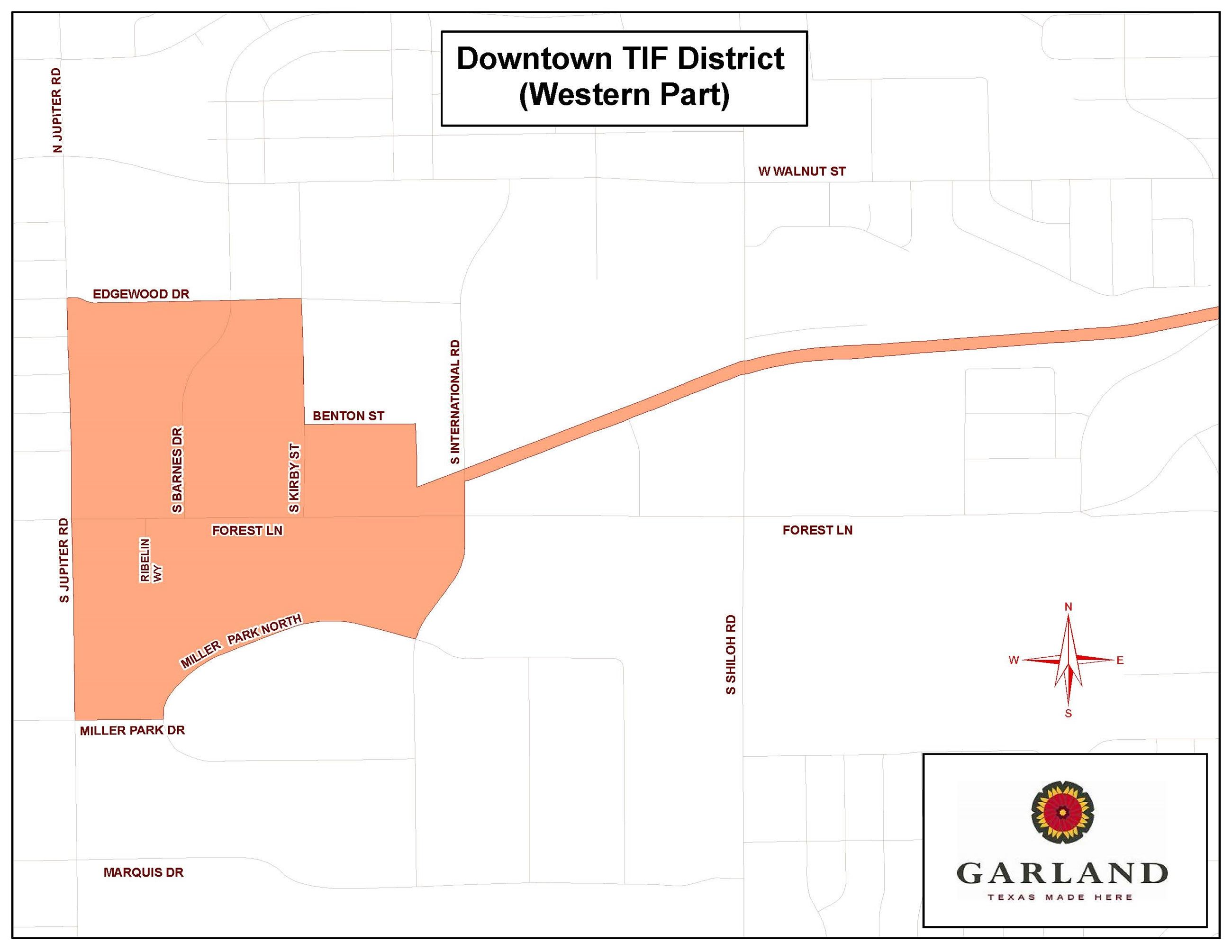 Downtown Tax Increment Financing District - Western Map (JPG)