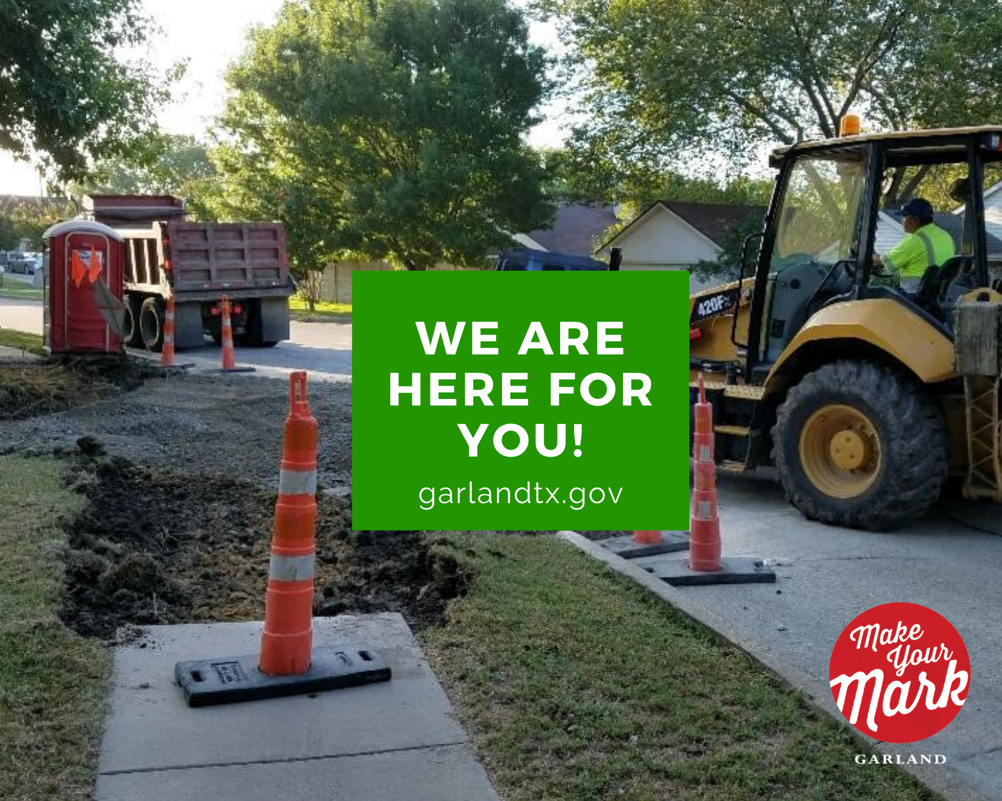 The Street Department is here for you, Garland!
