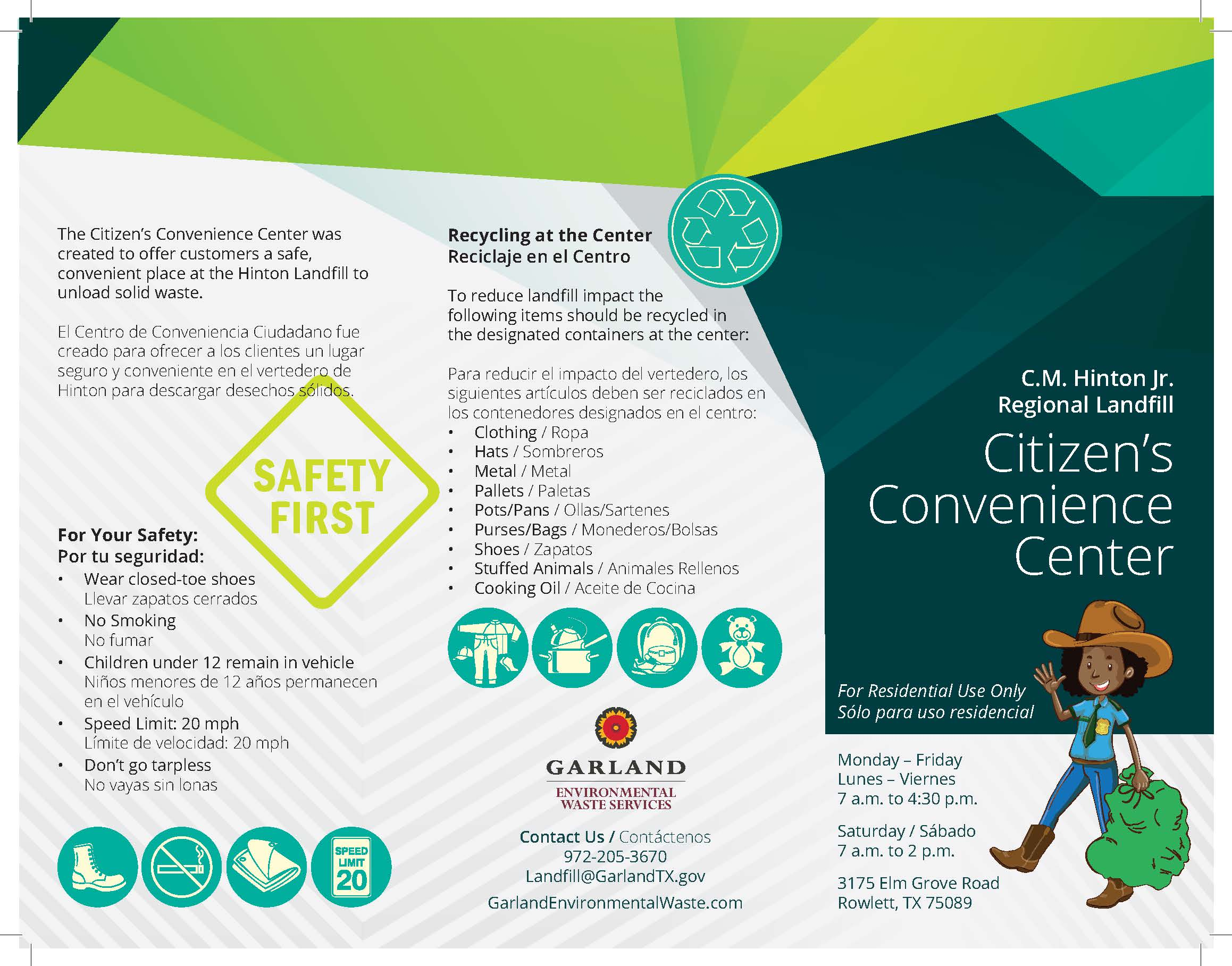 Citizens' Convenience Center Brochure