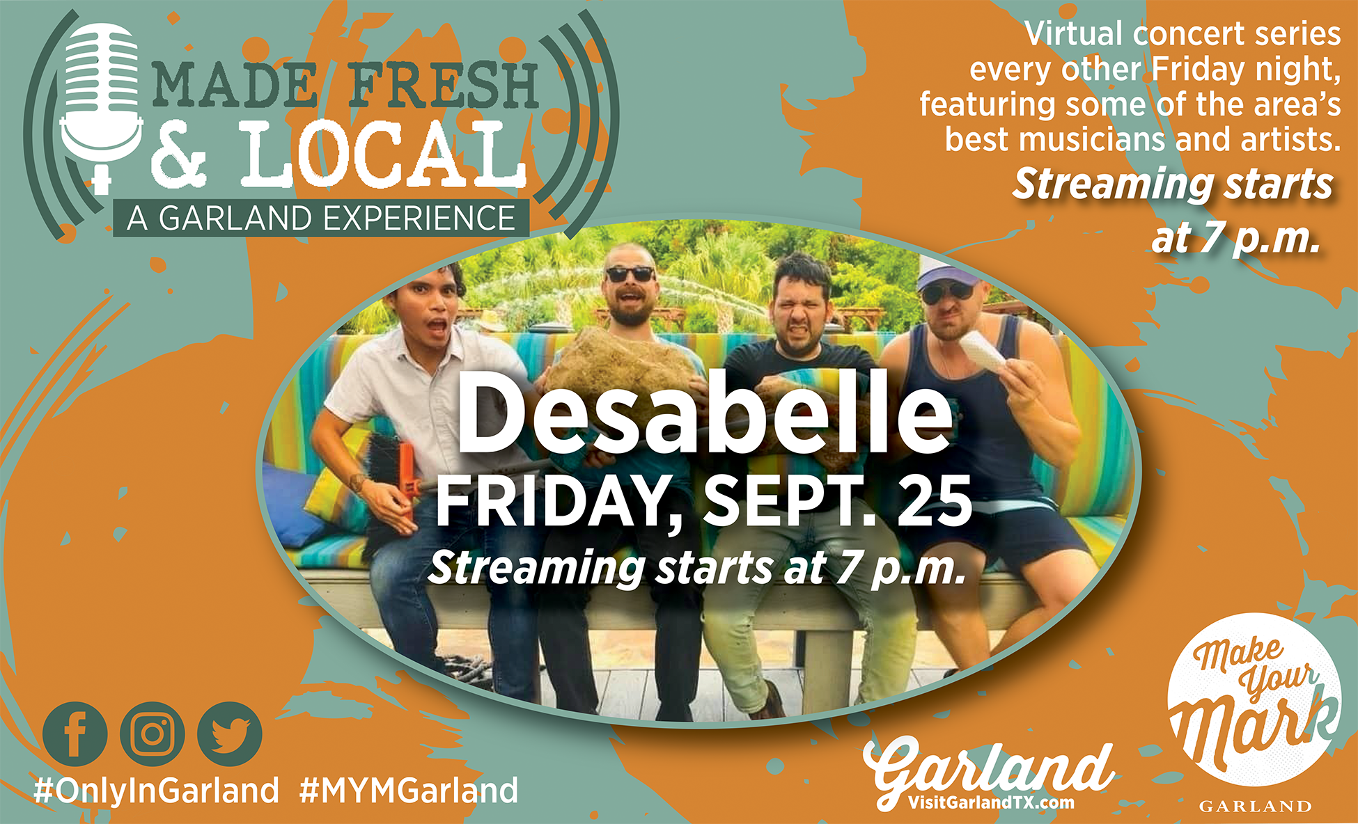 Made Fresh and Local_graphic with the band desabelle on sept 25
