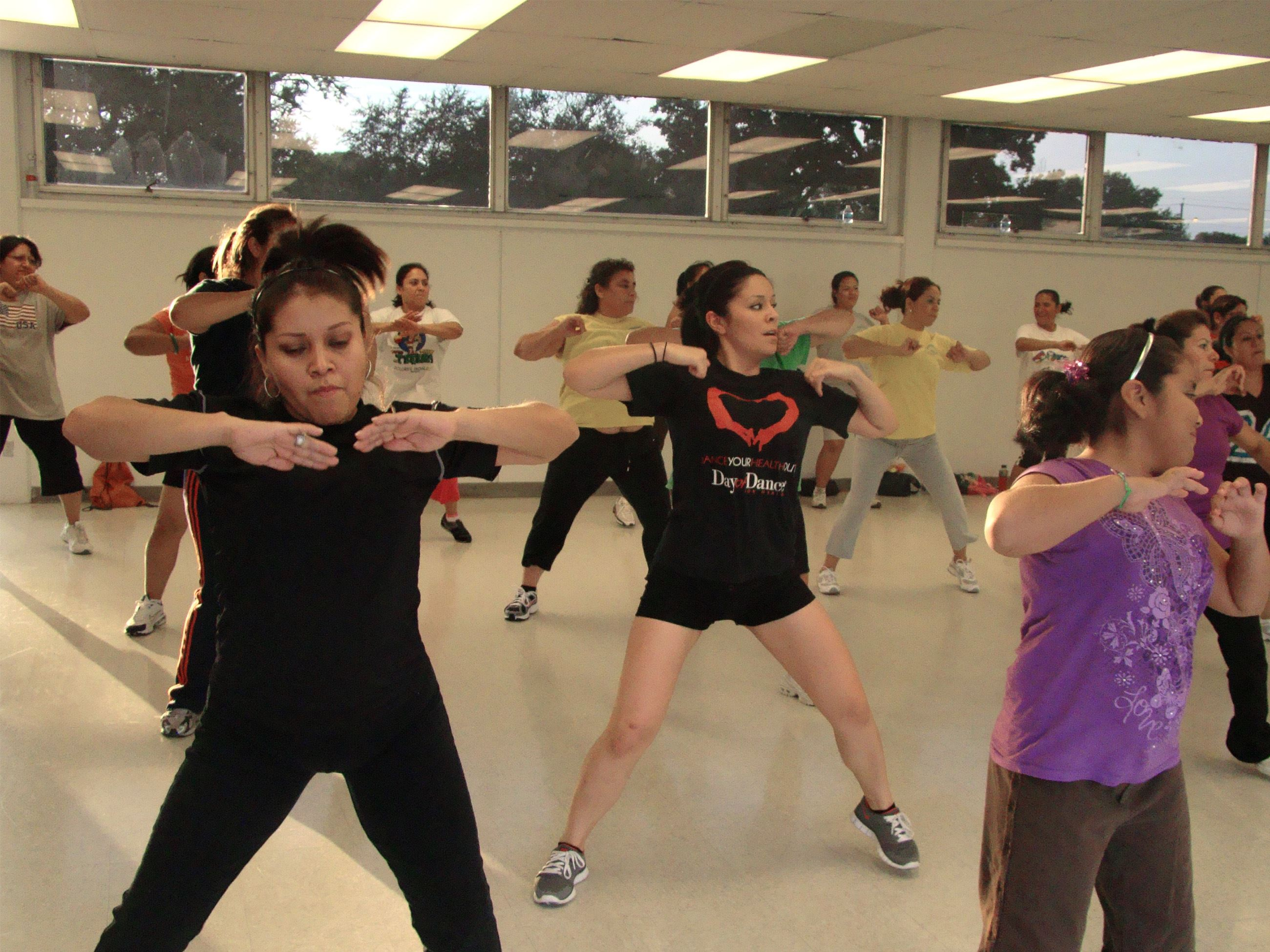 Poeple participating in Zumba