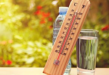 Thermometer with Water Glass 360x250